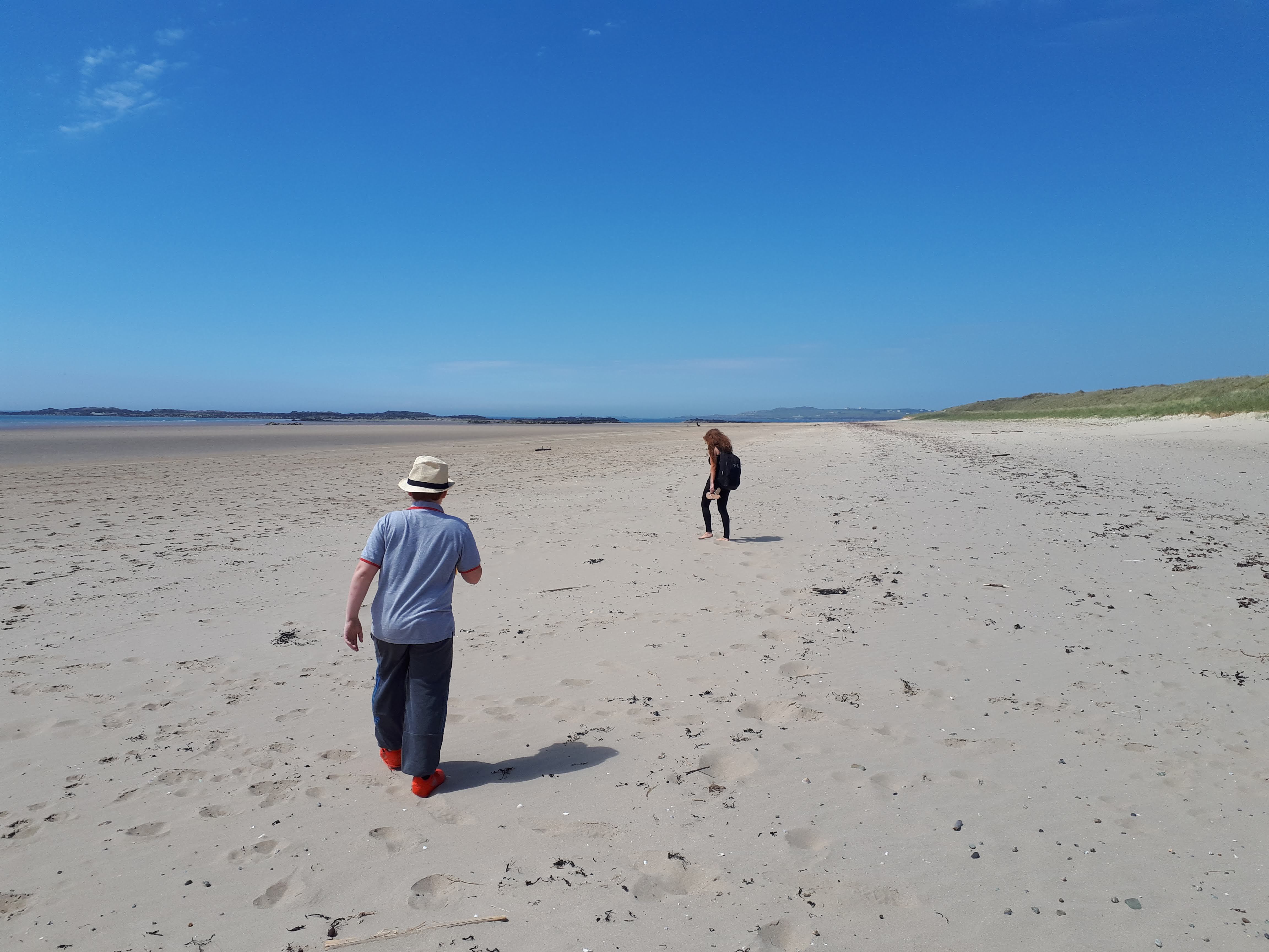 Picture showing Crigyll Beach, the path from Shoreside leads to this area