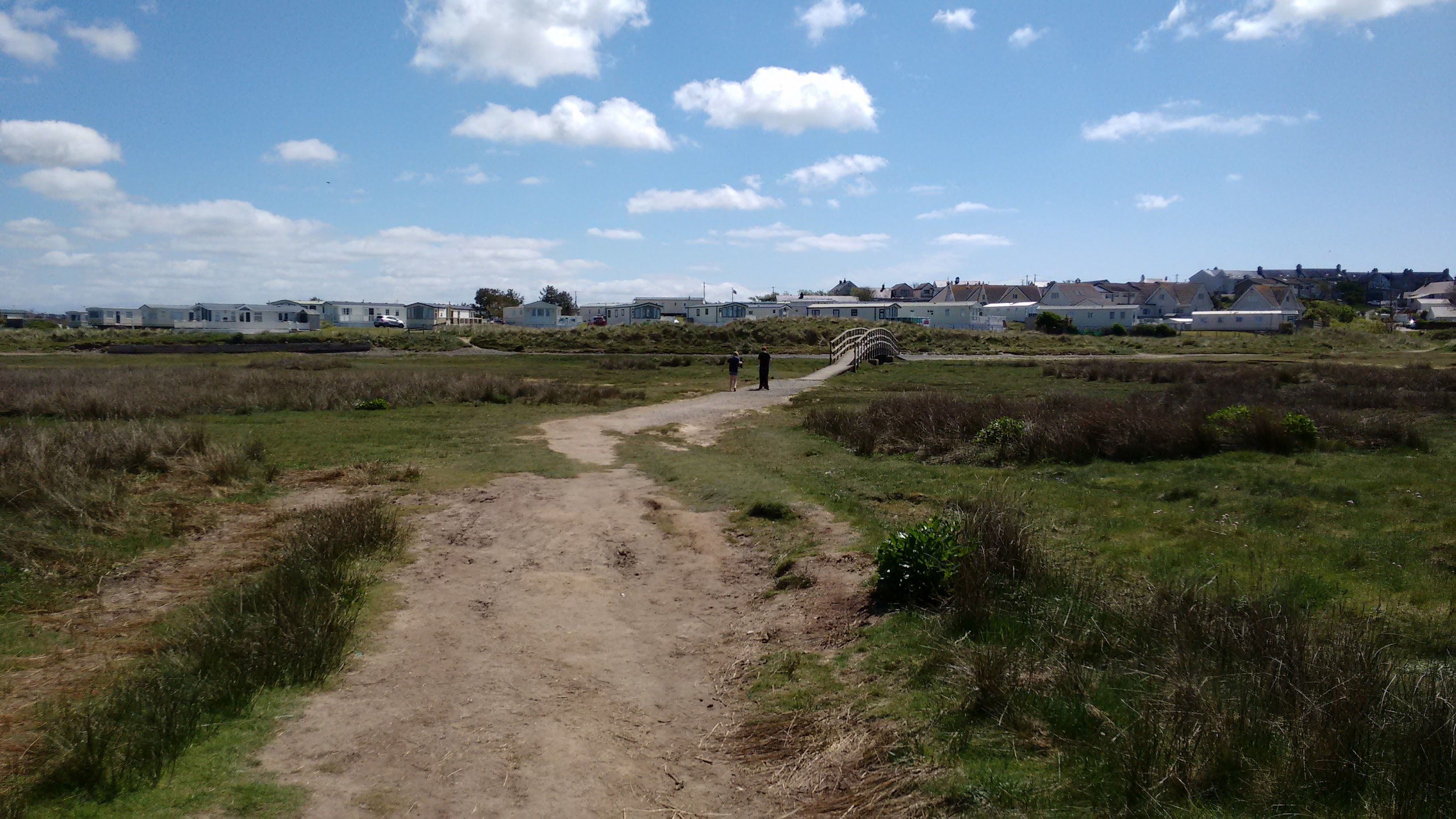 Path from the sand dunes to the riverside entrance to Shoreside