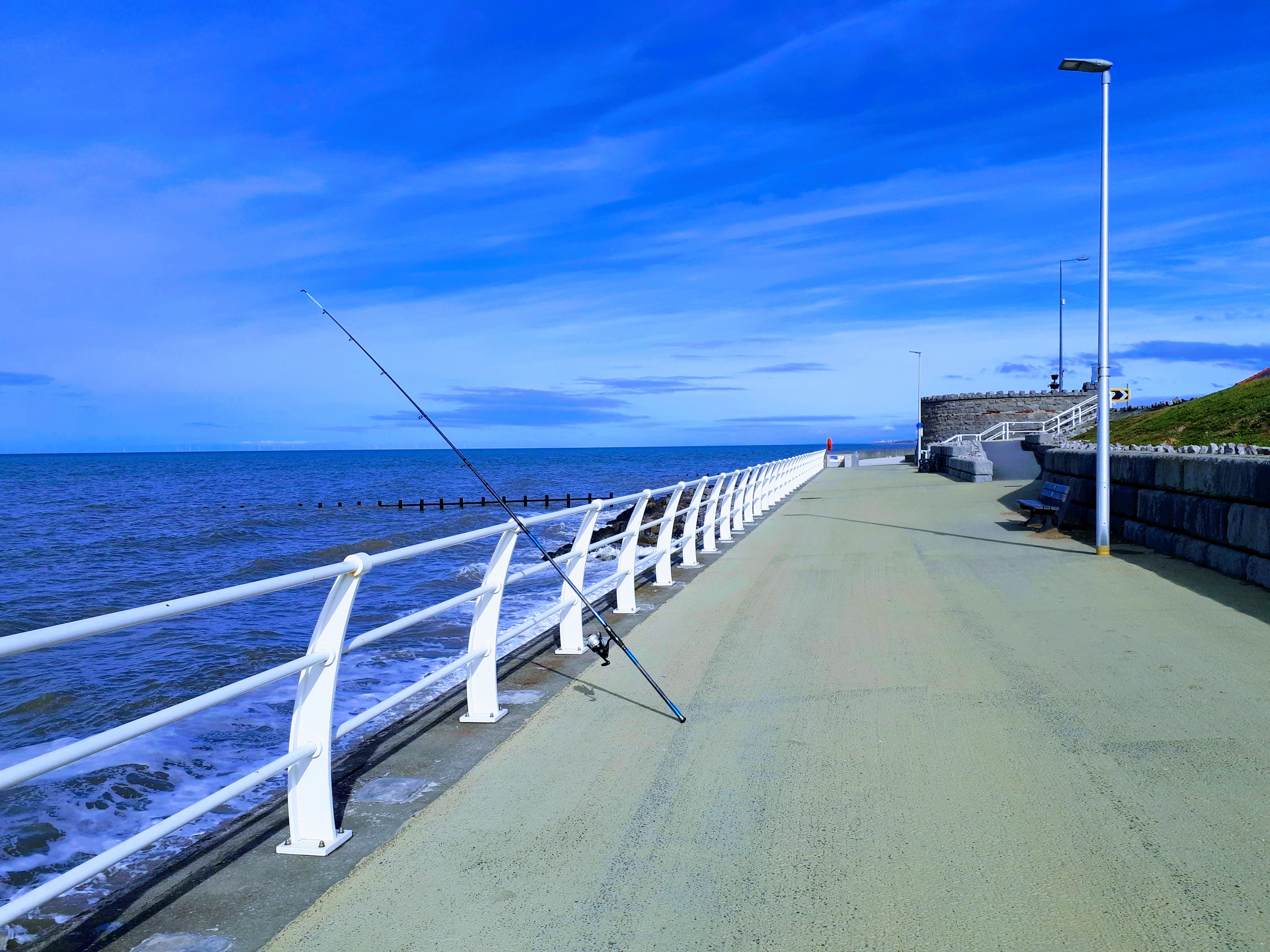 A picture of my fishing setup while fishing at Splash Point in Rhyl