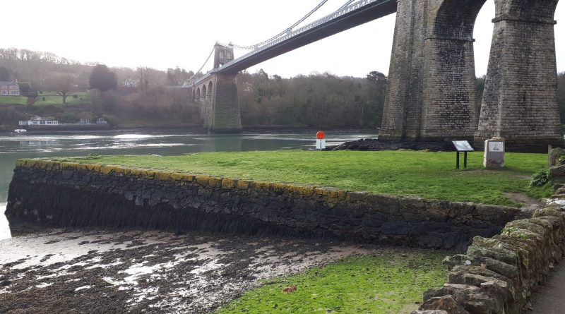 The green, an area in Menai Bridge that is good for sea fishing